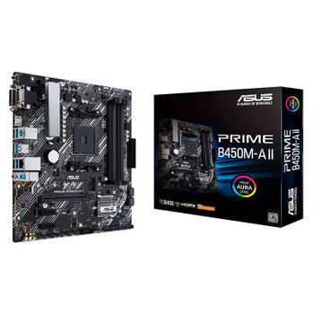 Asus PRIME B450M-A II AM4 Micro-ATX Motherboard Main Product Image