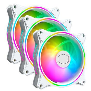 Cooler Master MasterFan MF120 Halo ARGB 120mm White Case Fan - 3 Pack Main Product Image