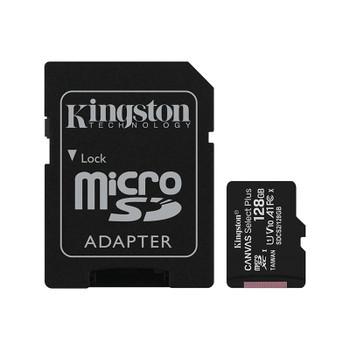 Kingston 128GB Canvas Select Plus Class 10 UHS-I microSD Memory Card - 100MB/s Main Product Image