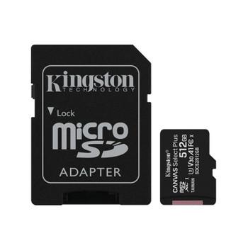 Kingston 512GB Canvas Select Plus Class 10 UHS-I microSD Memory Card - 100MB/s Main Product Image