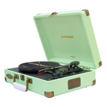 Mbeat Woodstock II Vintage Bluetooth Stereo Turntable - Tiffany Green Main Product Image