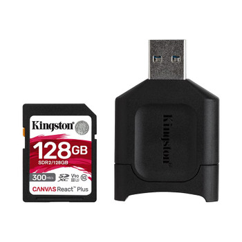 Kingston 128GB Canvas React Plus SD Class 10 UHS-II SD/SD Reader Main Product Image