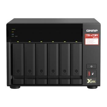 QNAP TS-673A-8G 6 Bay Diskless NAS AMD V1500B Quad Core 2.2GHz CPU 8GB RAM Main Product Image