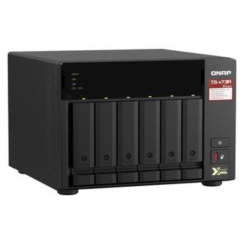QNAP TS-673A-8G 6 Bay Diskless NAS AMD V1500B Quad Core 2.2GHz CPU 8GB RAM Product Image 2