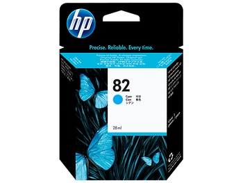 Product image for HP 82 69-Ml Cyan Ink Cartridge - 500/800