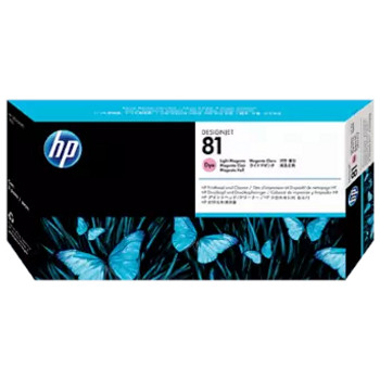 Product image for HP 81 Light Magenta Dye Printhead And Printhead Cleaner - 5000/5500