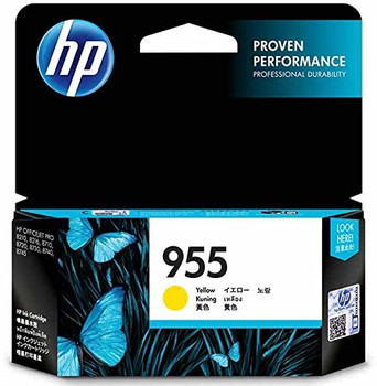 Product image for HP 955 Yellow Ink Cartridge