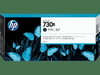 Product image for HP 730B 300Ml Matte Black DesignJet Ink Cartridge - T1700 / New Sd Pro Mfp / T1600 / T2600
