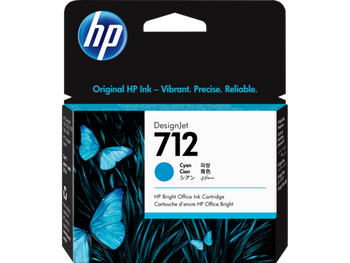 Product image for HP 712 29Ml Cyan DesignJet Ink Cartridge - T230/T250/T650/Studio