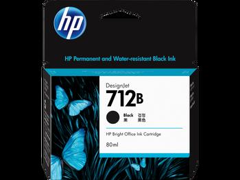 Product image for HP 712B 80Ml Black DesignJet Ink Cartridge - T230/T250/T650/Studio