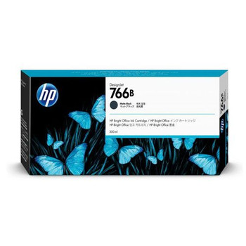 Product image for HP 766B 300Ml Matte Black DesignJet Ink Cartridge - Xl 3600
