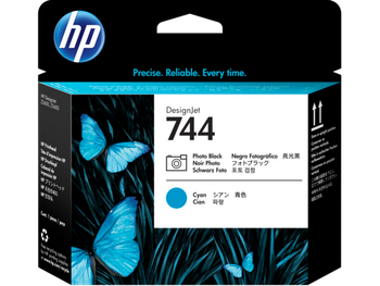 Product image for HP 744 Photo Black And Cyan DesignJet Printhead - Z2600/Z5600