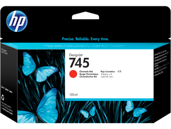 Product image for HP 745 130-Ml Chromatic Red DesignJet Ink Cartridge - Z2600/Z5600