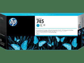 Product image for HP 745 300-Ml Cyan DesignJet Ink Cartridge - Z2600/Z5600