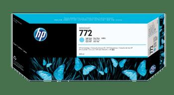 Product image for HP 772 300-Ml Light Cyan DesignJet Ink Cartridge - Z5200