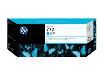Product image for HP 772 300-Ml Cyan DesignJet Ink Cartridge - Z5200 / Z5400