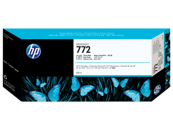 Product image for HP 772 300-Ml Photo Black DesignJet Ink Cartridge - Z5200 / Z5400