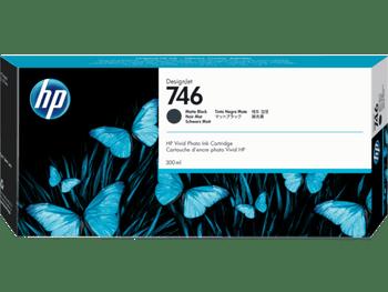 Product image for HP 746 300-Ml Matte Black DesignJet Ink Cartridge - Z6/Z9 Series