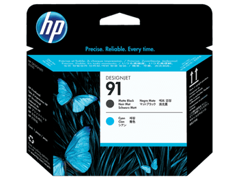 Product image for HP 91 Matte Black And Cyan Printhead - Z6100