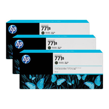 Product image for HP 771B 775Ml Matte Black DesignJet Ink Cartridge 3-Pack - Z6200/Z6800/Z6810