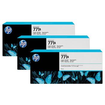 Product image for HP 771B 775Ml Photo Black DesignJet Ink Cartridge 3-Pack - Z6200/Z6800/Z6810
