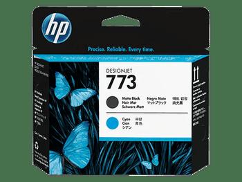 Product image for HP 773 Matte Black/Cyan DesignJet Printhead C1Q20A - Z6800