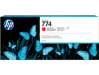 Product image for HP 774 775-Ml Chromatic Red DesignJet Ink Cartridge - Z6810
