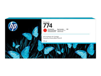 Product image for HP 774 775-Ml Chromatic Red DesignJet Ink Cartridges 3-Pack - Z6810