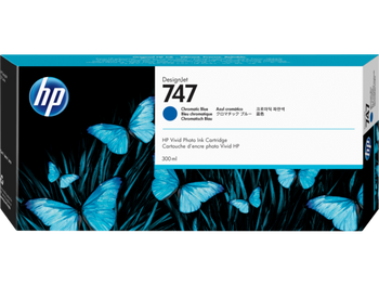 Product image for HP 747 300-Ml Chromatic Blue DesignJet Ink Cartridge - Z9 Series