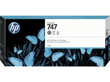 Product image for HP 747 300-Ml Gray DesignJet Ink Cartridge - Z9 Series