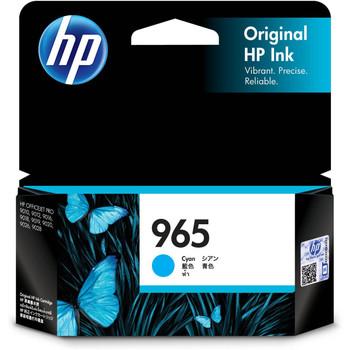 Product image for HP 965 Cyan Original Ink Cartridge