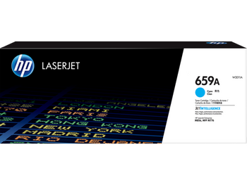 Product image for HP 659A Cyan LaserJet Toner Cartridge - 13,000 Pages. For M856 - M776