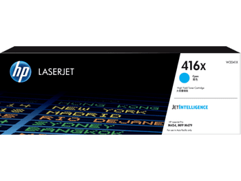 Product image for HP 416X Cyan Toner - High Yield- Approx 6K Pages - M454 - M479 - M455 - M480 Models