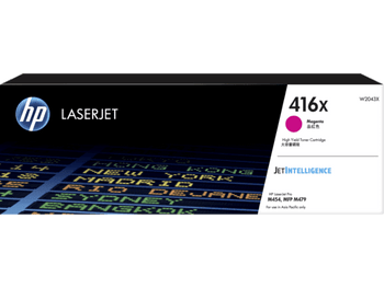 Product image for HP 416X Magenta Toner - High Yield - Approx 6K Pages. M454 - M479 - M455 - M480 Models