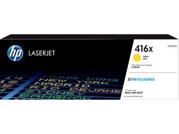 Product image for HP 416X Yellow Toner - High Yield - Approx 6K Pages - M454 - M479 - M455 - M480 Models
