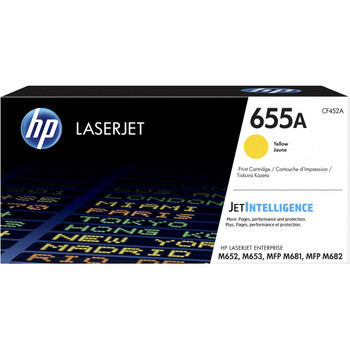 Product image for HP 655A Yellow Toner - Approx 10.5K Pages - M652 - M653 - M681 - M682 Compatible