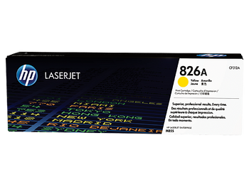 Product image for HP 826A Yellow LaserJet Toner Cartridge