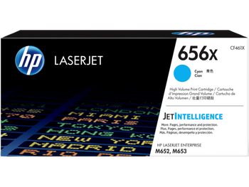 Product image for HP 656X Cyan LaserJet Toner Cartridge