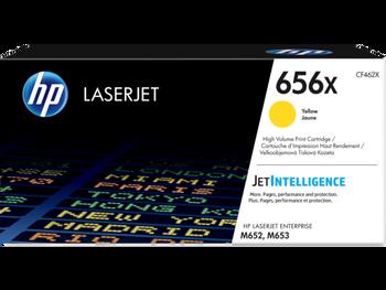 Product image for HP 656X Yellow LaserJet Toner Cartridge