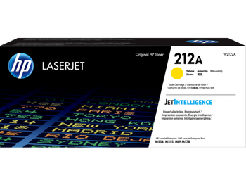 Product image for HP 212A Yellow Toner - Approx 4.5K Pages - For M554 - M555 - M558 Series