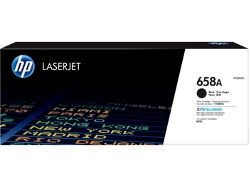 Product image for HP 658A Black LaserJet Toner Cartridge - Approx Yield 7K Pages - M751 Compatible