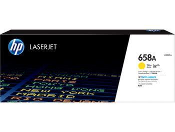 Product image for HP 658A Cyellow LaserJet Toner Cartridge - Approx Yield 6K Pages - M751 Compatible