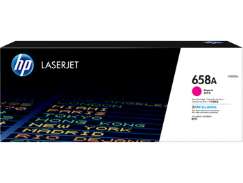 Product image for HP 658A Magenta LaserJet Toner Cartridge - Approx Yield 6K Pages - M751 Compatible