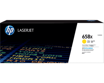 Product image for HP 658X Yellow LaserJet Toner Cartridge - High Yield - M751 Compatible