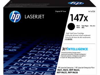 Product image for HP 147X Black Toner - High Yield Approx 25.2K Pages - For M610 - M611 - M612 - M634 - M635