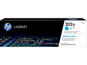 Product image for HP 202A Cyan Toner - M254 - M280 - M281 Compatible Printers