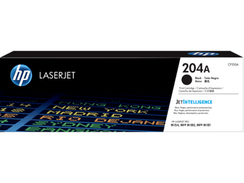 Product image for HP 204A Black Toner - Approx 1.1 K Pages - For M154 - M180 - M181 Printers