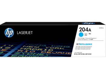Product image for HP 204A Cyan Toner - Approx 900 Pages - For M154 - M180 - M181 Printers