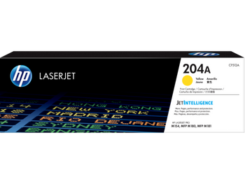 Product image for HP 204A Yellow Toner - Approx 900 Pages - For M154 - M180 - M181 Printers