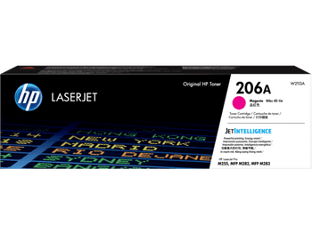 Product image for HP 206A Magenta Toner - Approx 1.25K Pages - For M283 - M255 Printers